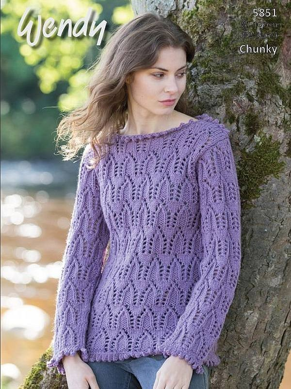 Wendy 5851 chunky sweater, Digital Download
