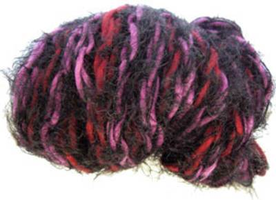 Katia Brooklyn scarf yarn, 59 purple and black