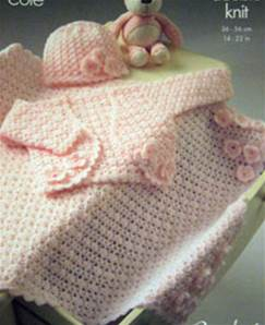Crochet layette King Cole 3258