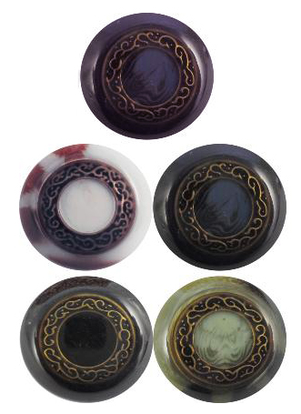 P379 onyx effect button 23cm