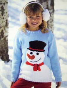 DK snowman sweater Sirdar 2375, Digital Download