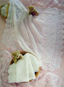 3 ply or 4  ply baby shawls Sirdar 3028 digital download