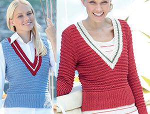 Aran tank top and sweater Sirdar 7275 Digital Download