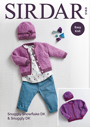 DK cardigan and hat Sirdar 5160 Digital Download