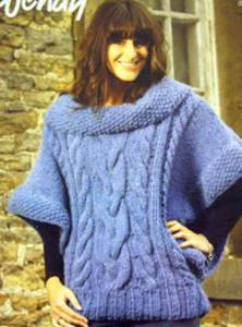 Superchunky poncho sweater Wendy 5644 digital version