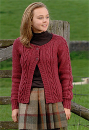 DK cabled cardigans Wendy Ramsdale 5788
