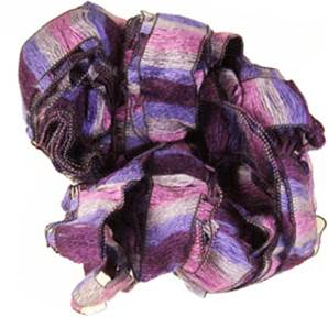 Katia Rizos 95 scarf knitting yarn, Grape