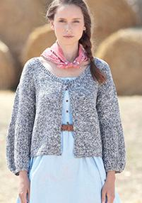 Scoop neck cardigan Sirdar 7028