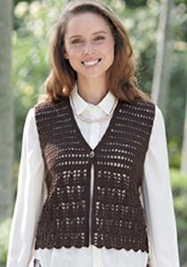 4 ply crochet waistcoat Sirdar 7045 Digital Download