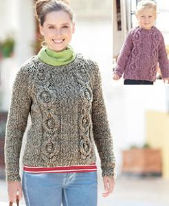 Woman and girls sweater Sirdar 7169