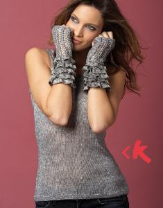Top and wrist warmers Katia Air Lux 3