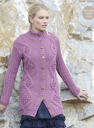 Aran jacket Sirdar 7332 Digital Download
