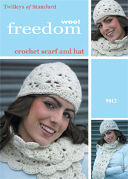Hat and scarf crochet Twilleys 9012, digital download