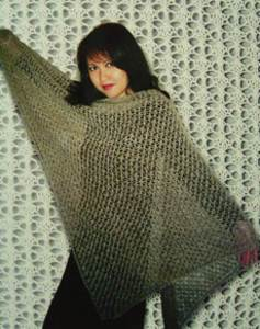 Charlotte's easy lace shawl Fiber Trends 102LC