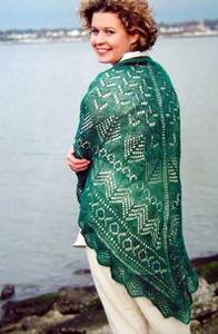 Pacific northwest shawl from Fiber Trends