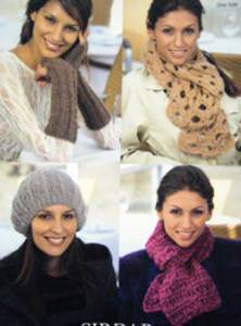 Beret, armwarmers and scarves Sirdar 9483