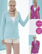 Crochet cardigan in 4 ply Sirdar 7747 Digital Download