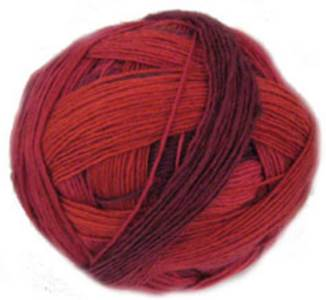 Schoppel Wolle Lace Ball 1963 Cranberries