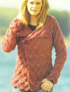 Twilleys 9053 Womans Dk Knitting Pattern Chevron Jacket