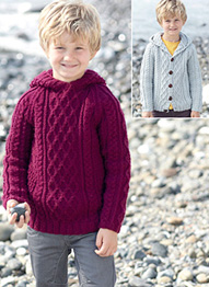 Aran sweater and cardigan Sirdar 2426 Digital Download