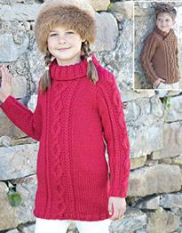 Chunky sweater and sweater dress Sirdar 2429