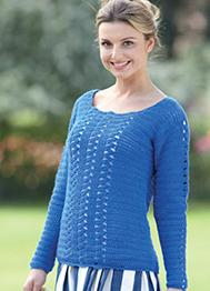 Crochet 4 ply sweater Sirdar 7227