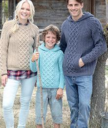 Aran sweaters Hayfield 7254