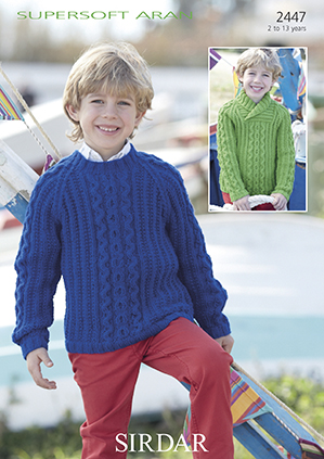 Aran sweaters Sirdar 2447, Digital Version