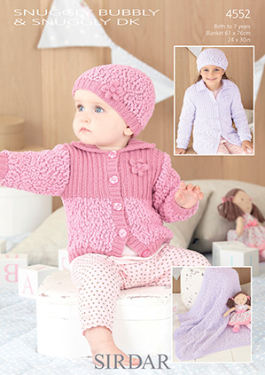 DK cardigan, hat, blanket Sirdar 4552 Digital Download