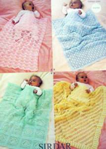 4 ply crochet blankets Sirdar 1368 Digital Download
