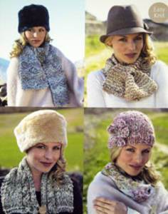 Scarves and hat Sirdar 9654