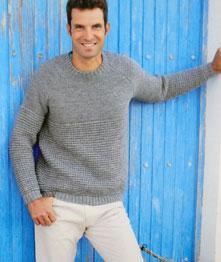 Sirdar 9765 mens DK knitting pattern for raglan sweater