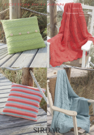 Aran cushion covers and throws Sirdar 7749 Digital Download