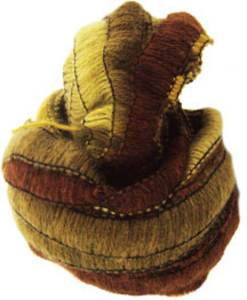 Wendy Frills scarf yarn 2652 old gold and brown shades