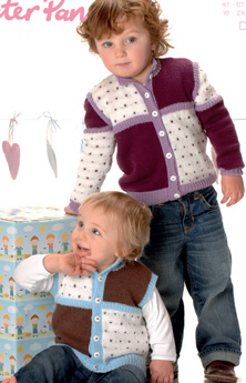 boys cardigan and gillet DK pattern Peter Pan 1128 PDF Download