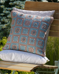 Crochet cushion front cover Twilleys 9047, Digital Version