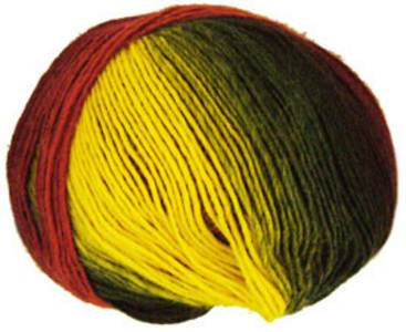 Katia Darling 4 ply 202, Red Gold Green
