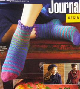 Regia Journal 613, hand dye effect socks and accessories