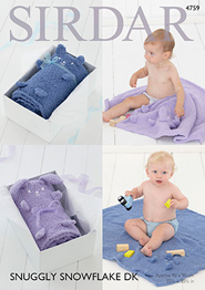 DK baby blankets Sirdar 4759 Digital Download