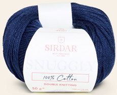 Snuggly 100% cotton DK 758 Navy