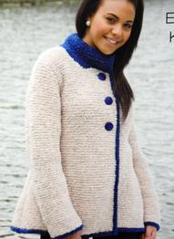 Chunky garter stitch jacket Wendy 5500, digital version