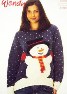 Aran snowman sweater Wendy 5593 digital download