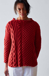 Erika Knight Caravan, womens DK sweater pattern, PDF download
