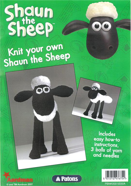 Pattern For Knitted Baby Hats : Sean the Sheep knitting kit from Patons