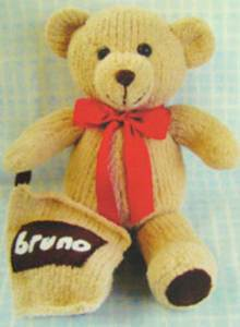 Bruno the bear knitting kit