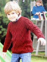 Aran sweater Sirdar 2395, Digital Download
