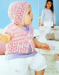 Cardigan and bonnet Sirdar 4463