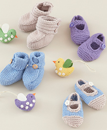DK baby bootees and shoes Sirdar 4786 Digital Download