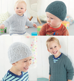 DK boys sweaters & hats Sirdar 4889 Digital Download