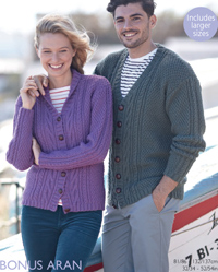 Hayfield 8098 aran cardigans, digital download
